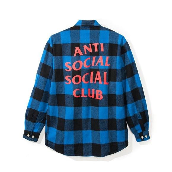 ea1febd809ea Anti Social Social Club MONTREAL FLANNEL Brand New
